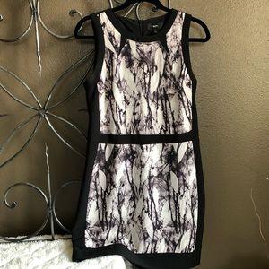 Mossimo Black/Gray Leaf/Print Dress (8)